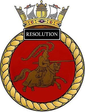 HMS Resolution (S22) - Image: Ships crest of HMS Resolution (S22)