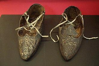 Germanus of Granfelden - Shoes of St Germanus of Granfelden at Musée de Cluny -- Musée national du Moyen Âge