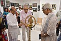 Shyamal Kumar Sen Lighting Inaugural Lamp - 43rd PAD Group Exhibition Inauguration - Kolkata 2017-06-20 0340.JPG