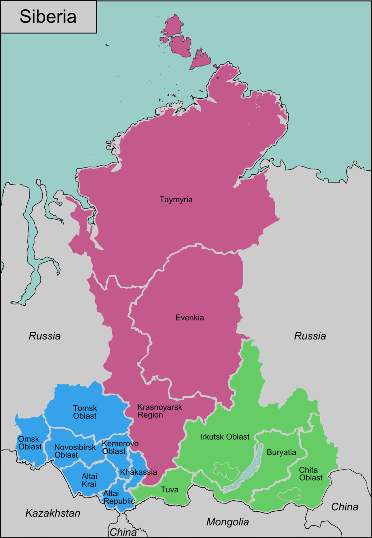 Cartina Russia Siberia.Siberia Wikivoyage Guida Turistica Di Viaggio