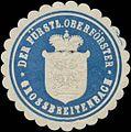 Siegelmarke Der Fürstliche Oberförster Grossbreitenbach W0382454.jpg