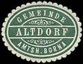 Siegelmarke Gemeinde Altdorf - Amtshauptmannschaft Borna W0253740.jpg