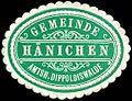 Siegelmarke Gemeinde Hänichen - Amtshauptmannschaft Dippoldiswalde W0261962.jpg