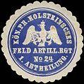Siegelmarke Kön. Pr. Holsteinsches Feld Artillerie Regiment No. 24 - 1. Abtheilung W0313854.jpg
