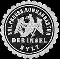 Siegelmarke Königlich Preussische Kommandantur der Insel Sylt W0238356.jpg
