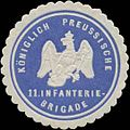 Siegelmarke K.Pr. 11. Infanterie-Brigade W0363906.jpg