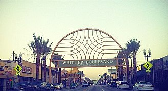 East Los Angeles, California - Sign on Whittier Blvd in East Los Angeles