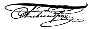 Alexander II's signature