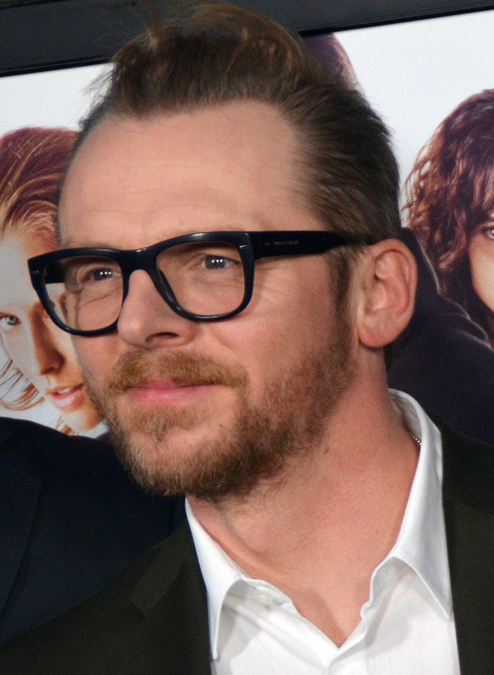 Simon Pegg Premiere of Kill Me Three Times (cropped)