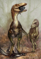 Sinocalliopteryx gigas feeding on the dromaeosaur Sinornithosaurus - journal.pone.0044012.g008.png