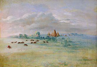 Cloud Man - Ḣeyate Otuŋwe, painted by George Catlin between 1835–1836