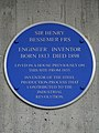 Sir Henry Bessemer FRS Engineer Inventor Born 1813 Died 1898 lived in a house previously on this site.jpg