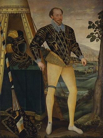 William Drury (MP for Suffolk) - Sir William Drury of Hawstead, Suffolk, 1587.