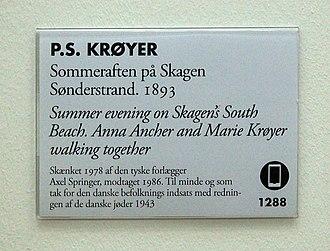 Summer Evening on Skagen's Southern Beach - Summer Evening on Skagen's Southern Beach, Skagens Museum