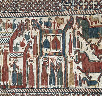 Sweden - Skog tapestry, made most probably during the late 13th century.
