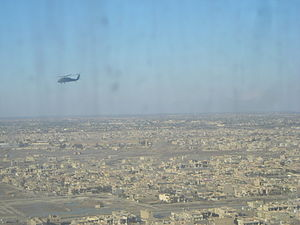United Nations Security Council Resolution 1557 - American helicopter over Baghdad, Iraq