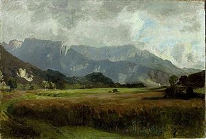 Antonín Chittussi - View of the Tatra Mountains (1890)