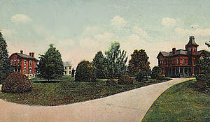 William Smith (businessman) - From right to left: Smith's mansion, the Smith observatory, and Brooks' house
