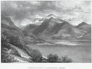 Snowdon with Llanberris lakes