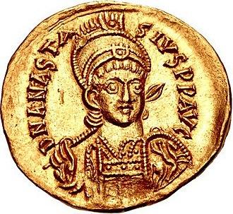 Anastasius I Dicorus - Solidus of Emperor Anastasius