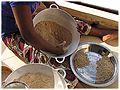 Soungouf - millet flour 8. forming arraw pellets.jpg