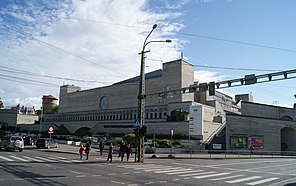 Soviet building of the National Librairy in Tallinn (7974002304).jpg