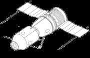 Soyuz-A manned spacecraft concept (1963). It was to have been part of the Soyuz A-B-C circumlunar complex