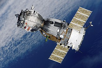 Spacecraft - More than 100 Soviet and Russian crewed Soyuz spacecraft (TMA version shown) have flown since 1967 and now support the International Space Station.