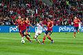 Spain - Chile - 10-09-2013 - Geneva - Raul Albiol, Sergio Ramos, Eduardo Vargas and Alvaro Arbeloa.jpg