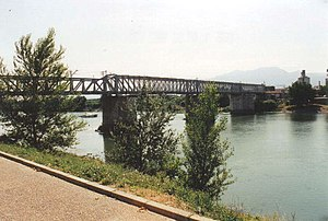 11th Division (Spain) - Metal bridge at Tortosa where the 11th Division stopped the Fascist Italian troops of the Corpo Truppe Volontarie.
