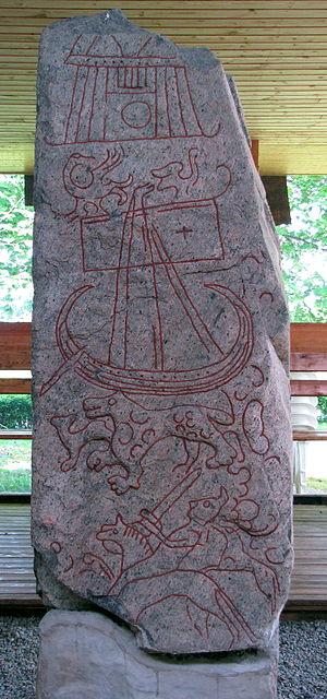 Sparlösa Runestone - Image: Sparlosa stone picture face
