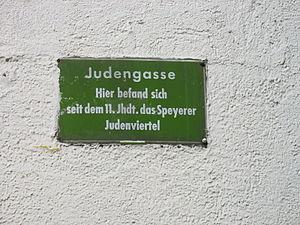 Jewish courtyard - Juden street in Speyer, Germany