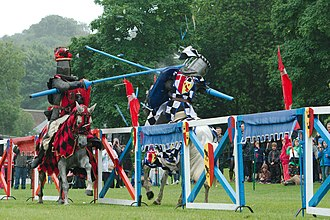 Theatrical jousting - Jousting performance at the Linlithgow Palace (2013)