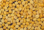 Dry, yellow split peas
