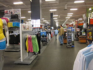 Sports Authority - Interior of a Sports Authority in Daly City, California