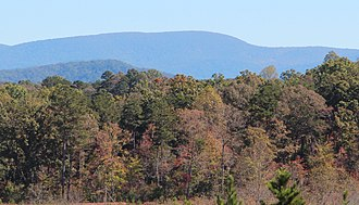 Springer Mountain - Springer Mountain viewed from East Ellijay