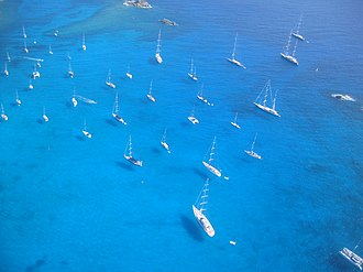 Saint Barthélemy - Sailboats and yachts in St. Barts.
