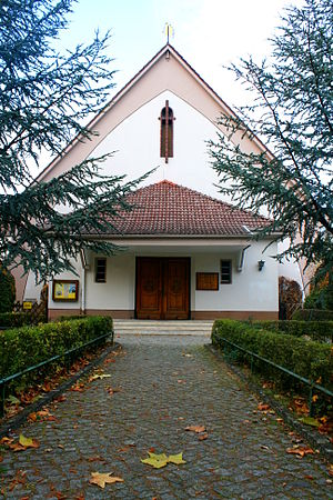 St. George's Anglican Church, Berlin - Entrance at the southern gable end of St. George's Church