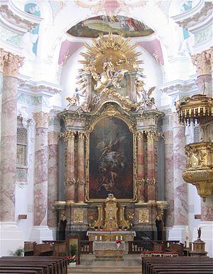 St Michael in Berg am Laim (Munich) - High altar.