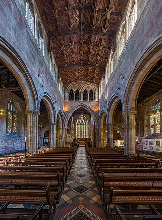 St Mary's Church, Shrewsbury - The nave