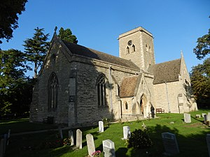 Grade II* listed buildings in Bedfordshire - Image: St Mary's church, Bletsoe