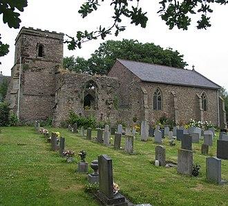 Elmesthorpe - St Mary's Church Elmesthorpe, showing the ruined and restored halves