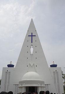 Maradu suburb in Ernakulam, Kerala, India