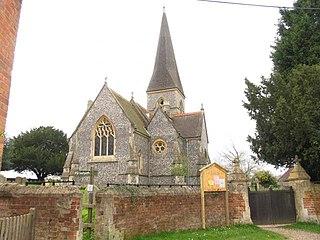 Brimpton Village in West Berkshire, England