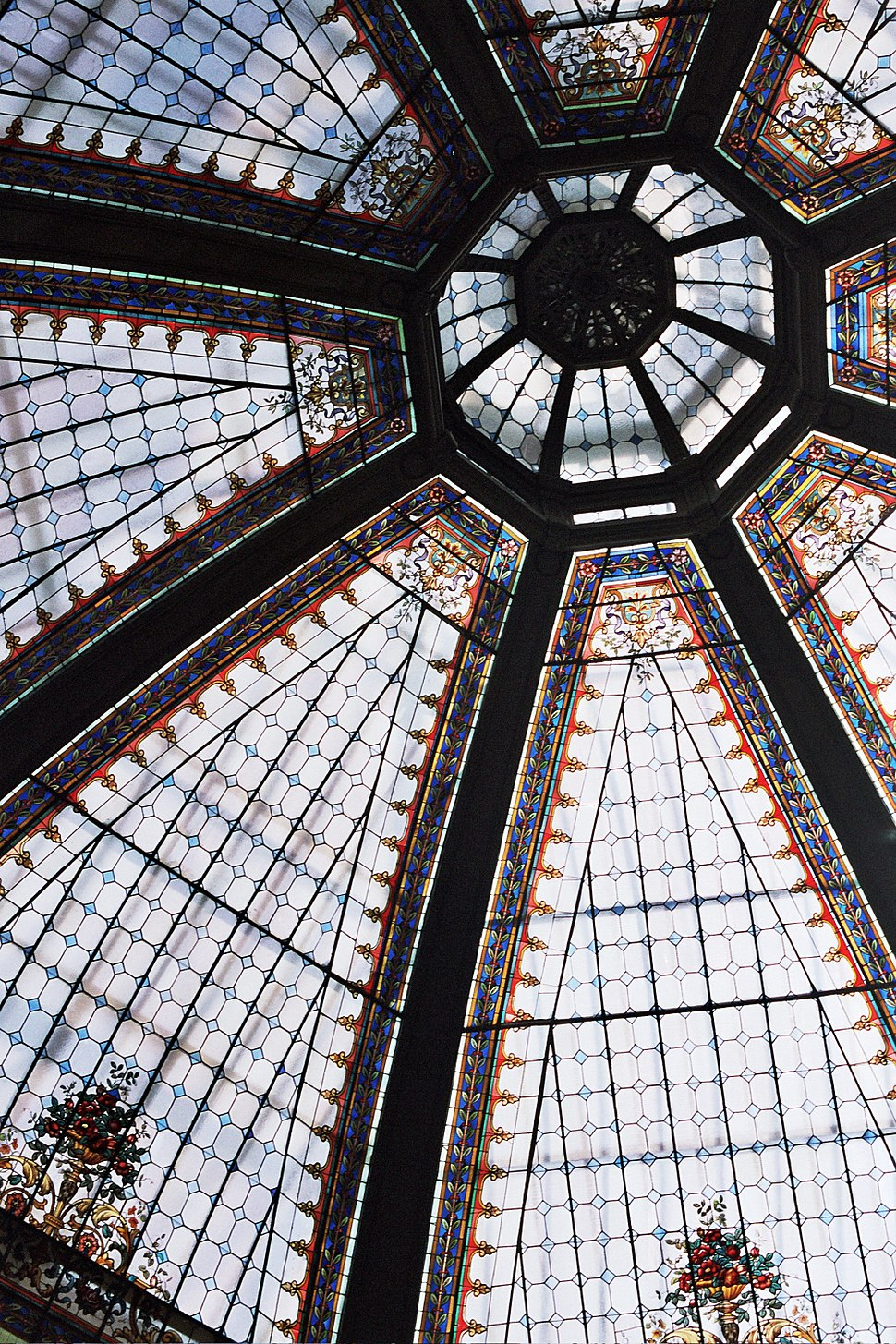 Stained glass roof Oktogon Zagreb