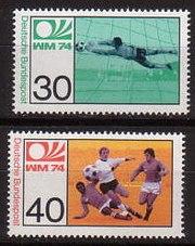 Stamp football WC 1974 deutsche bundespost