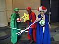 Star Wars Celebration V - Luigi, Mario, and Toad Jedi costumes (4940995764).jpg