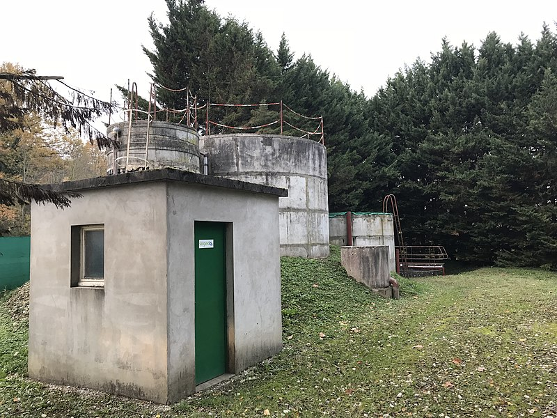 Station d'épuration de Mollon (Villieu-Loyes-Mollon, Ain, France).