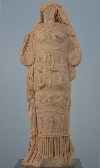 Carians - Ancient copy of the cult image of a local goddess hellenized as Aphrodite at Aphrodisias