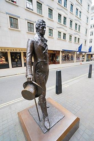 Jermyn Street - A statue of Beau Brummell in Jermyn Street.
